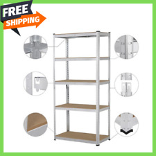 Heavy Duty 71h Shelf Garage Steel Metal Storage 5 Level Adjustable Shelves Rack