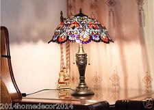 Bar Cafe Art Vintage Tiffany Table Light 2 Lights Beside Bedroom Home Decor Lamp
