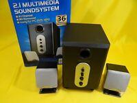 2.1 Design-Lautsprecher/aktives 2.1 Sound System Lautsprecher/Subwoofer/ weiß