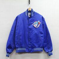 Vintage Toronto Blue Jays Shain Satin Bomber Jacket Size XL 80s 90s MLB
