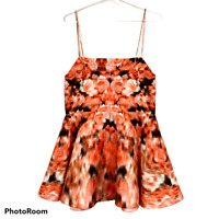 BNWT Finders Keepers Womens Talk is Cheap Blurred Floral Dress Size S RRP$169.95