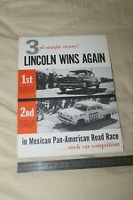 (MB2/C) Brochure Catalogue LINCOLN Mexican Pan-American Road Race