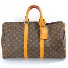 LOUIS VUITTON Monogram Keepall 45 M41428 Boston Bag Hand Bag Brown Canvas