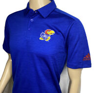 Adidas Kansas Jayhawks University Polo Shirt Game Mode KU NCAA Royal Men S NWT