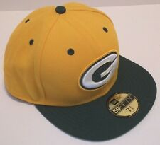 Green Bay Packers Ball Cap Hat~New Era 59Fifty~NFL~7 1/2  Fitted~Ship FREE