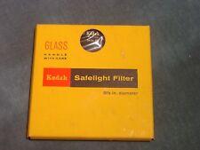 """KODAK OA Safelight Filter 5-1/2"""" Diameter New in Box"""