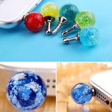 2pcs 3.5mm Luminous Crystal Anti Dust Cap Earphone Plug Stopper For Cell Phone