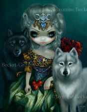 Jasmine Becket-Griffith art BIG wolf print SIGNED Loup-Garou La Grande Prêtresse