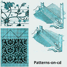 Victorian Era Hand Loom Weaving ornamental weaving patterns on CD warping mill