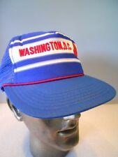Vintage 70s Washington DC USA Tourist Trucker Derby Hat Sport Red White Blue Cap