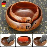 Natürlich Garnschale Holz Handstrickgarn Bowl Wollschale Stricken Häkeln 18/20cm
