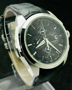 VINTAGE TISSOT QUARTZ 1853 CHRONOGRAPH 3 JEWELS MEN'S WRIST WATCH MADE IN SWISS.