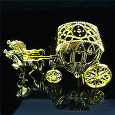 6Pcs Gold Horse Fillable Carriage Baby Shower Favors For Christening Party Deco