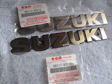 Suzuki GS1000 GS858 GS750 GS550E nos fuel tank emblem set   68111-45010   gold
