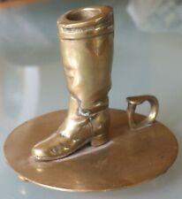06/24 Vintage Ralph Lauren Brass English Riding Boot Candleholder