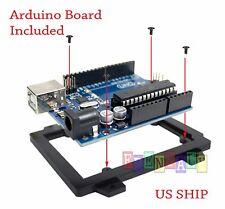 1X Black Cased UNO R3 MEGA328P ATMEGA16U2 Develop board for Arduino USB Cable