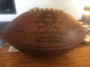 Official NFL game used football Thorp Pete Rozelle Colts Vikings 10/23/1966