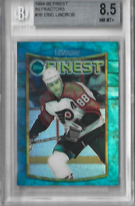 1994-95 Finest Refractor #8 Eric Lindros No Coating BGS 8.5 POP 2