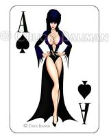 ELVIRA Classic Standee playing card decal sexy busty pin-up babe sticker