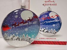 New listing Hallmark 2014 A Merry Christmas Eve Collectible Glass Ornament New in Box