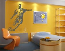 Soccer Striker - highest quality wall decal stickers