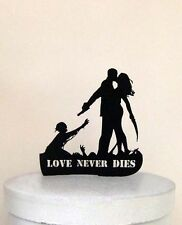 Wedding Cake Topper - Halloween Zombieland with Love Never Dies