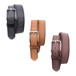 Mens Genuine Leather Belts For Casual, 100% Buffalo Leather 40 mm Square Buckle