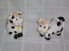 Ceramic Holstein Cow Sugat & Creamer