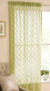 Phoenix Sheer Voile Curtain Panel Raspberry / Lime / White / Ivory 144cm x 137cm