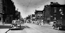 Photo. ca 1951. Montreal.  Catherine Street From Moreau - Buy Coca-Cola 7 Cents