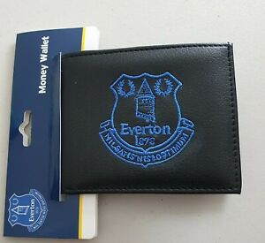 Everton FC Official Mens Black Money/ Card Wallet - Great Gift Idea