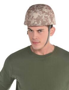 COSTUME HAT - ARMY HELMET CAMO