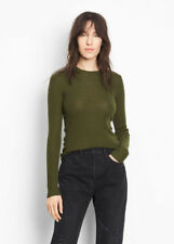 V113 NWT VINCE 100%25 CASHMERE RIBBED CREWNECK WOMEN SWEATER SIZE M $255