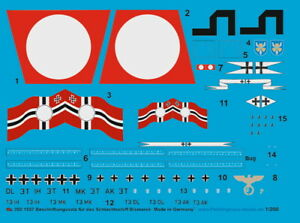 Peddinghaus-Decals 1:200 1557 Bismark Schlachtschiff für Hachett und Trumpeter M