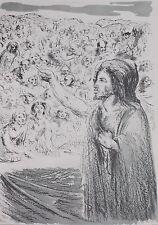 """Aligi SASSU Litografia Originale """"il Messia"""" FIRMATA cm 50X70 es. 91/125"""