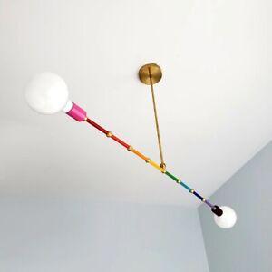 Industrial Chandelier Modern Sputnik Mid Century Rainbow Variation Ceiling Light