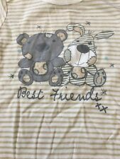 Baby One Piece 18 - 24 Months Bunny Teddy Best Friends Brown Stripes