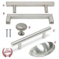 Cabinet Drawer Handles Kitchen Brushed Nickel Bar Pulls Square Knob Hardware
