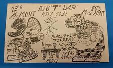 "HAM CB RADIO QSL Trading Card ""MR & MRS MORT - BLACKIE TIPPERY - CANYON TEXAS"""