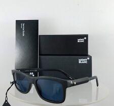 Brand New Authentic Mont Blanc Sunglasses MB 653S 02V Black Polarized 55mm Frame