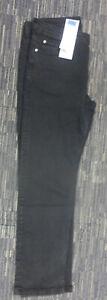 MENS JEANS SIZE 38W REGULAR M&CO RRP £29.00 STRAIGHT LEG NEW BLACK