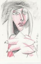 #2090- Original Drawing by George Kocar Nude with Four Breasts