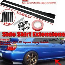 86.6'' Side Skirt Extensions Panel Splitters Lip Protector Extension For Subaru