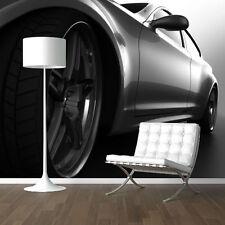 WALLPAPER BLACK & WHITE CAR CLOSE UP WALL PAPER 300cm wide 240cm tall WM088