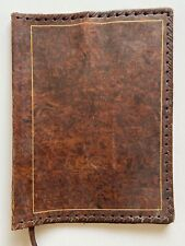 Italian Leather Vintage Book Cover by Mark Cross?