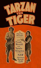 Tarzan the Tiger 15 chapter serial on 2 DVDs in case w/art Edgar Rice Burroughs