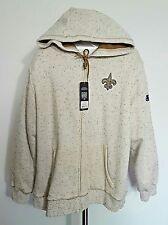 NFL New Orleans Saints Football Women's Proline Hooded Jacket NWT Size XXL (2XL)