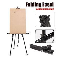 Folding Aluminium Alloy Portable Poster Stand Artist Studio Painting Easel Black
