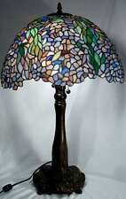 Tiffany Stained Glass Table Lamp, Lg. Wisteria