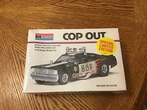 "MONOGRAM 7504 ""COP-OUT"" Plymouth DUSTER 1/24 1994 Model Car Mountain KIT NIB"